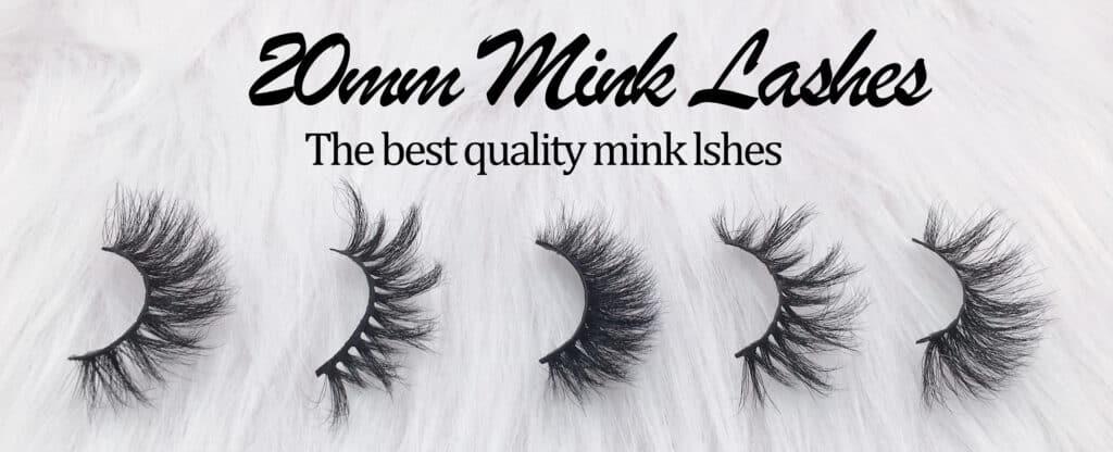 wholeslae mink lashes 20mm mink lashes
