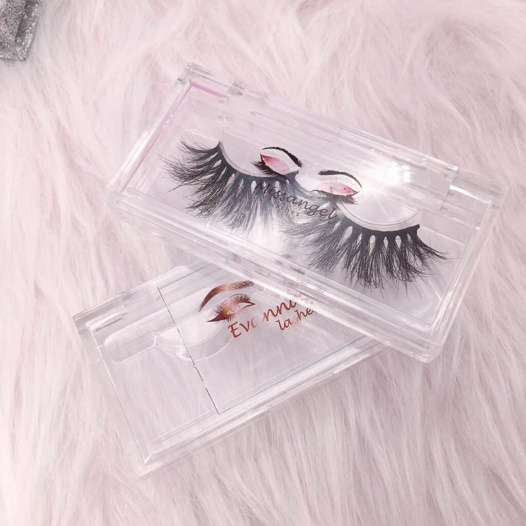 customized eyelash packaging clear case