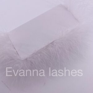 create your own eyelash packaging with white  feather