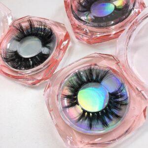 custom eyelash packaging boxes with lashes case
