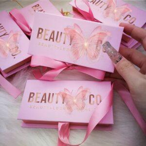 3D 16mm Mink Eyelashes Wholesale Custom lashes packaging