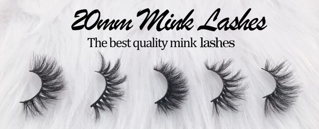 20mm mink lashes wholesale from eyelash vendors