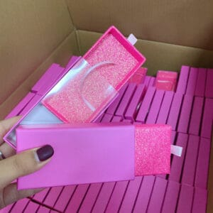 Pull box wholesale mink lashes and packaging
