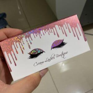 cheap custom eyelash boxes with water drop
