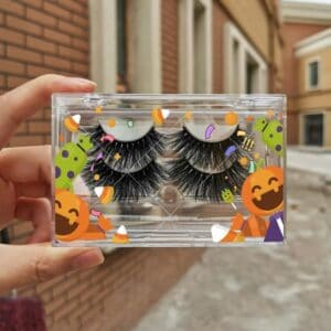 3d mink strip lashes wholesale with custom eyelash package boxes