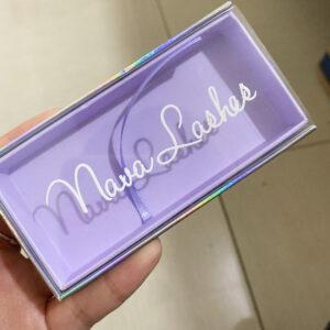 wholesale custom eyelash packaging box purple package