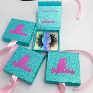3d mink lashes packaging eyelashes box wholesale