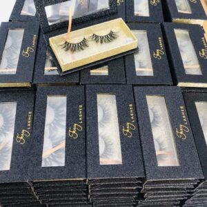 cheap custom eyelash packaging custom eyelash box