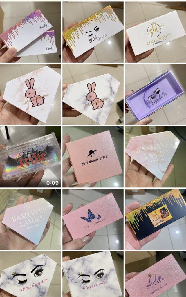 wholesale eyelash packaging box wholesale mink lashes