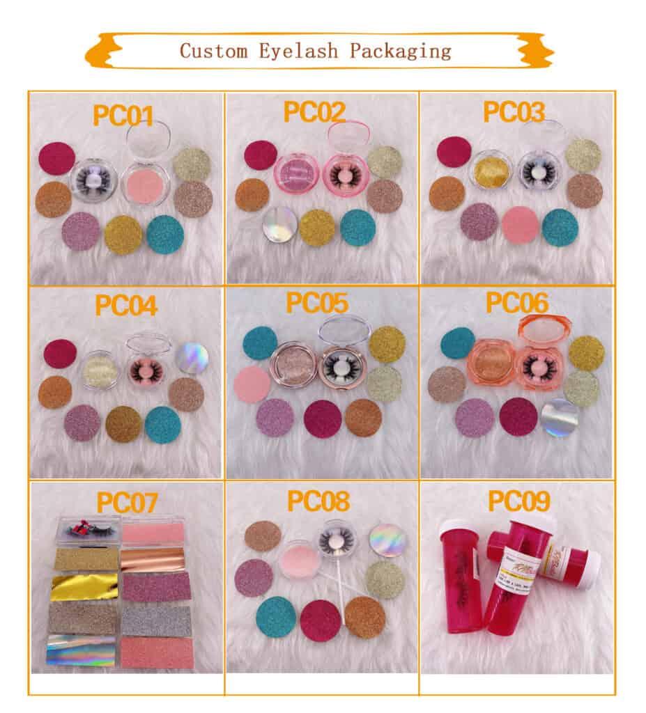 custom eyelash packaging boxes wholesale mink lashes