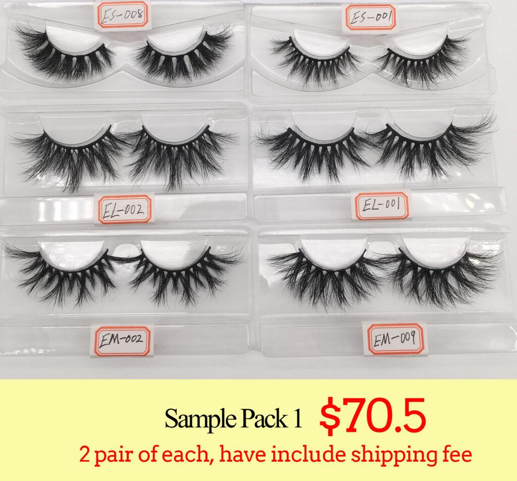 wholesale mink lashes sample from eyelash vendors