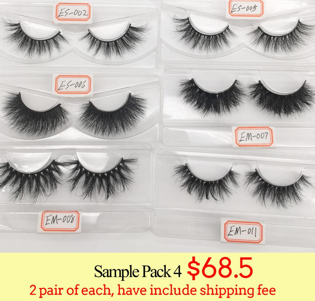 3d mink lashes wholesale lash sample pack