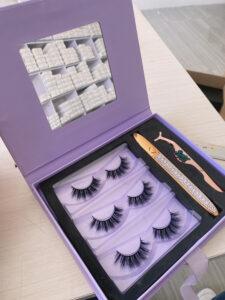 custom eyelash packaging with lash logo