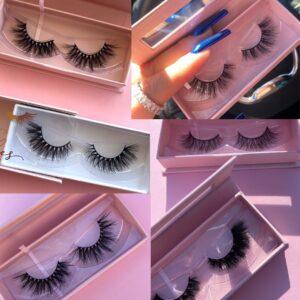 wholesale 3d mink eyelashes with custom eyelash packaging