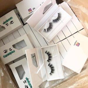 wholesale mink lash vendors with eyelash packaging boxes