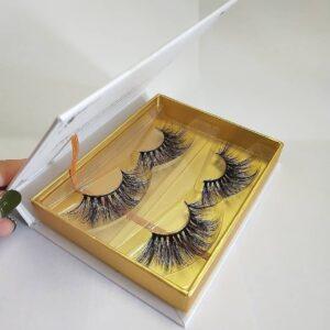 custom eyelash packaging box wholesale mink lashes