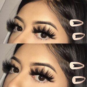 mink lash vendors wholesale with eye makeup