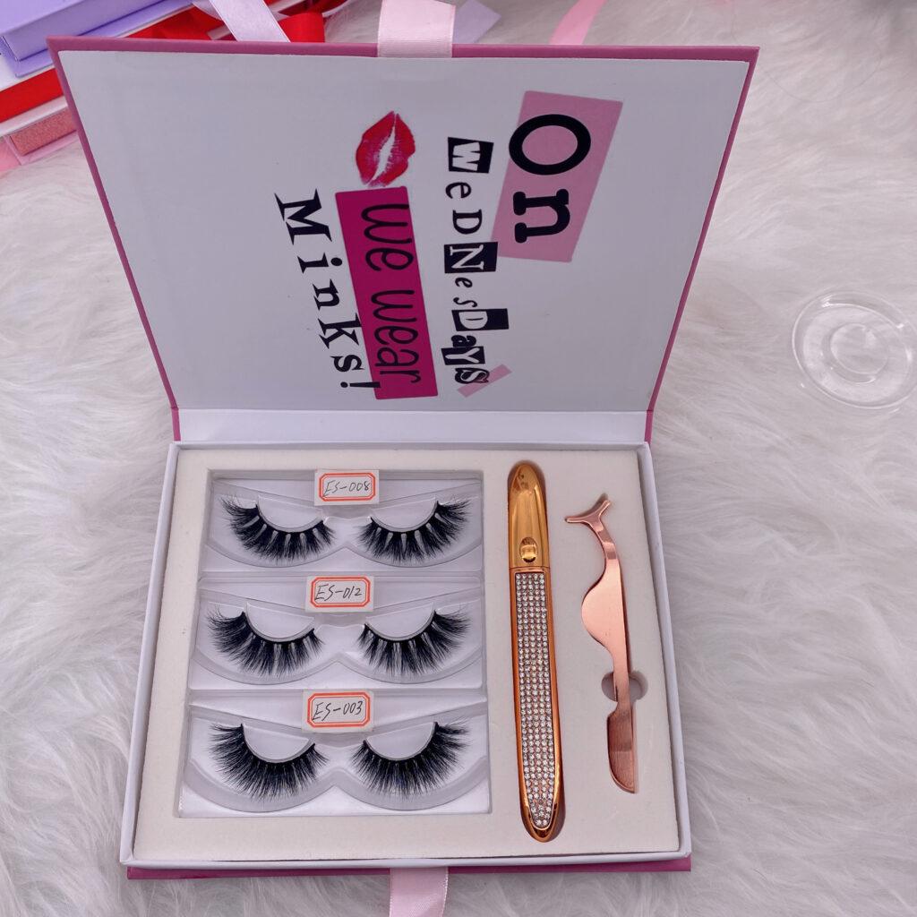 custom eyelash packaging box lash book 12