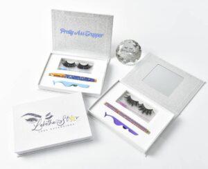 printed eyelash packaging boxes